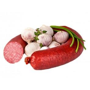 Knoblauch-Salami im Ring