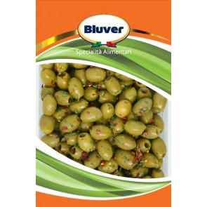 Grüne Oliven, entsteint