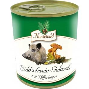 Wildschwein-Gulasch mit Pfifferlingen