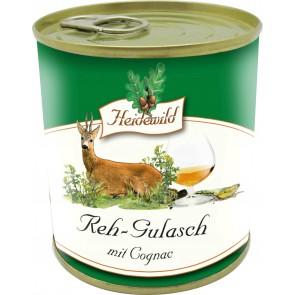 Reh-Gulasch mit Cognac